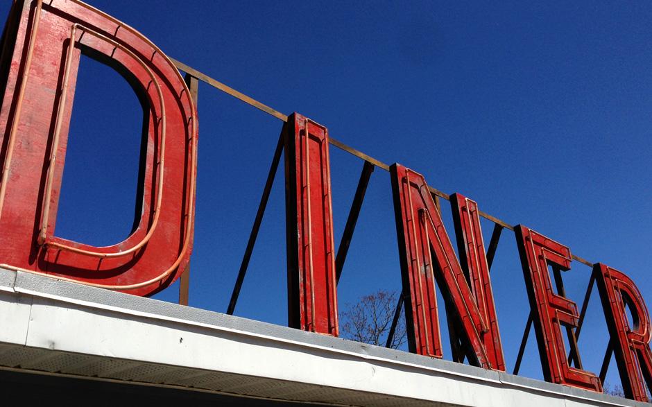 diner sign detail
