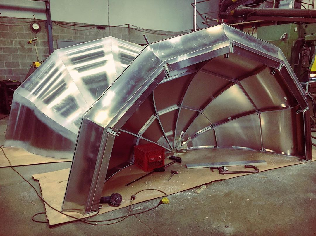instagram: The lantern house roof during construction. Modelled in Sketchup and manufactured by Weldpro. #artdirection #setdesign #setconstruction #artdepartment #tiff #thelighthouse #nsfilmjobs