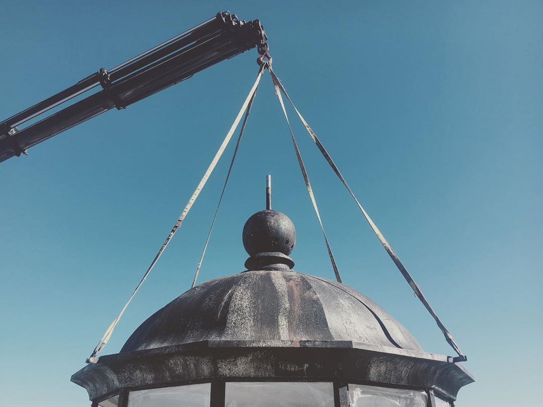 instagram: Putting the cherry on top. Amazing feeling when the lantern house was installed and it all fit together as planned. 😅 #thelighthouse #artdirector #artdirection #tiff #setdesign #setdesigner #setconstruction #setbuilding