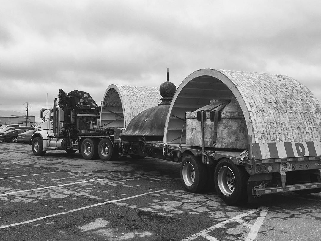 instagram: The roof of the lantern house and the machine room walls on a flatbed ready for the long and lonely road to Yarmouth. #thelighthouse #artdirector #artdirection #tiff #setdesign #setdesigner #setconstruction #setbuilding #artdepartment #nsfilmjobs